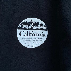 John Galt California Cropped Black Sweatshirt  S